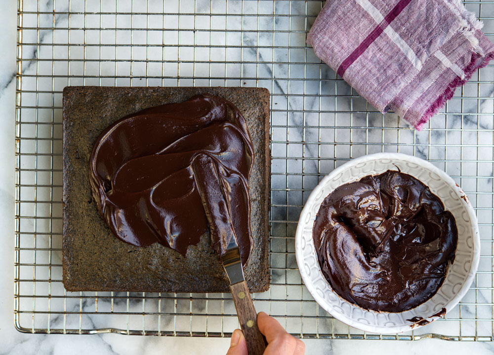 Black Sesame Seed Cake Wild Greens Amp Sardines